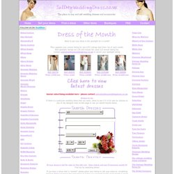 Designer new and secondhand wedding dresses for sale