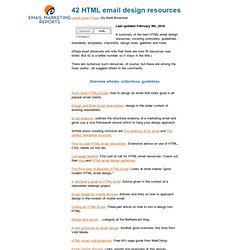 42 HTML email design resources