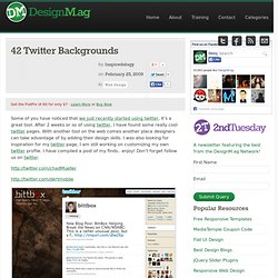 39 Twitter Backgrounds | Inspiredology