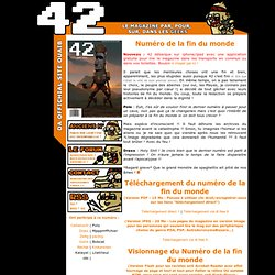42, Da Ultimate Webzine of Zi Intraweb !