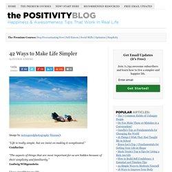 42 Ways to Make Life Simpler