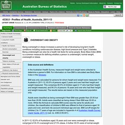 4338.0 - Profiles of Health, Australia, 2011-13