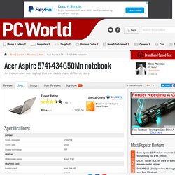 Acer Aspire 5741-434G50Mn notebook Specifications - Brand Centre - Acer
