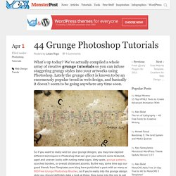 44 Grunge Photoshop Tutorials