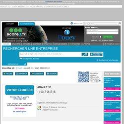 Abault 31 - Siren 440346518 - bilan gratuit d'entreprise sur Score3