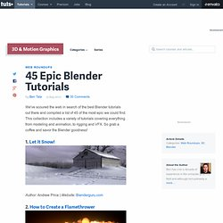 45 Epic Blender Tutorials