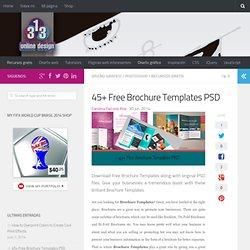 45+ Free Brochure Templates PSD