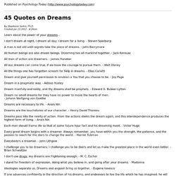 45 Quotes on Dreams