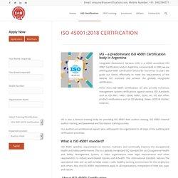 ISO 45001:2018 Certification – IAS Latin America