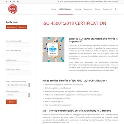 ISO 45001 Certification Germany