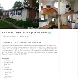 4508 W 90th Street, Bloomington, MN 55437