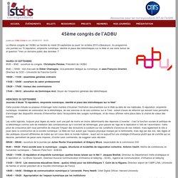 45ème congrès de l'ADBU
