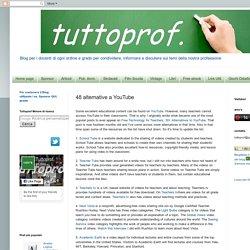TUTTOPROF.: 48 alternative a YouTube