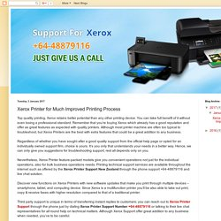 +64-48879116: Xerox Printer for Much Improved Printing Process