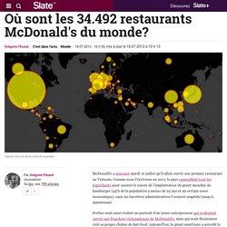 Où sont les 34.492 restaurants McDonald's du monde?