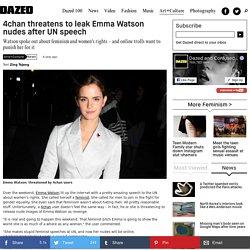 4chan threatens to leak Emma Watson nudes after UN speech