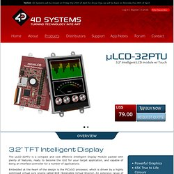 µLCD-32PTU - 4D Intelligent Display Modules