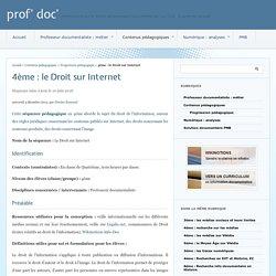 4ème : le Droit sur Internet - prof' doc'