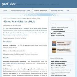 4ème : les médias sur Vikidia - prof' doc'