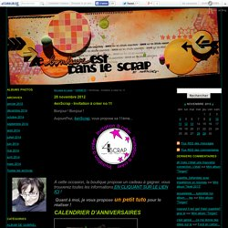 4enScrap - Invitation à créer no 11 - De page en page