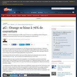 4G : Orange se hisse à 76% de couverture