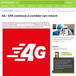4G : SFR continue à combler son retard