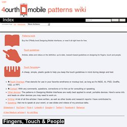 Index - 4ourth Mobile Design Pattern Library