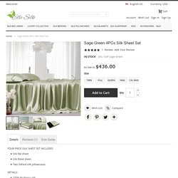 4pcs Silk Sheet Sets, 100% Mulberry Silk, 22 Momme