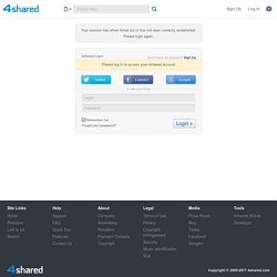 4shared.com - free file sharing and storage - Login