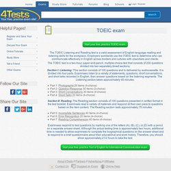 4Tests.com - TOEIC Exam