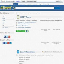 4Tests.com - Free, Practice HiSET Exam