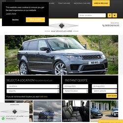4x4 Vehicle Hire: Leading UK 4x4 Hire Company