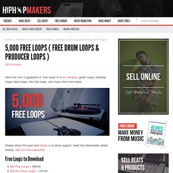 5,000 Free Loops – Drums, Guitar , Orchestra, Heavy Metal, & More - Hip Hop Makers