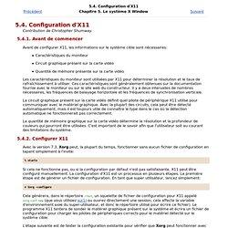 Configuration d'X11