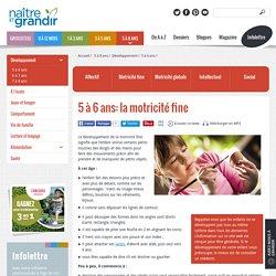 5 à 6 ans: la motricité fine