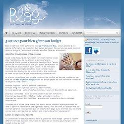 5 astuces pour bien gérer son budget
