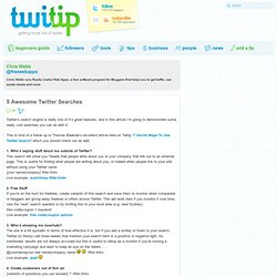 5 Awesome Twitter Searches