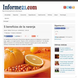 5 beneficios de la naranja
