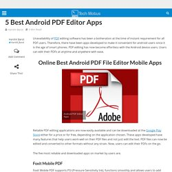 5 Best Android PDF Editor Apps