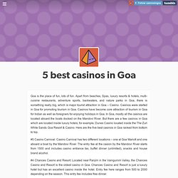 Casinos In Goa Tumblr