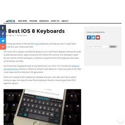 5 Best iOS 8 Keyboards