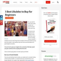 5 Best Ukuleles to Buy for Beginners