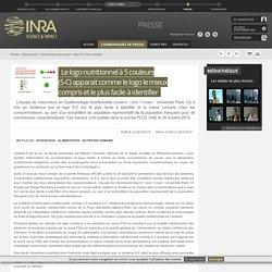 INRA 28/10/15 Le logo nutritionnel à 5 couleurs (5-C) apparait comme le logo le mieux compris et le plus facile à identifier