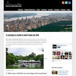 5 choses à faire à New York en été