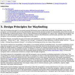 5. Design Principles for Wayfinding