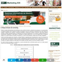 5. Etapas del plan de marketing