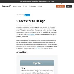 Type On Screen: 5 Faces for UI Design