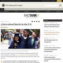 5 facts about blacks in the U.S.