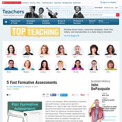 5 Fast Formative Assessments