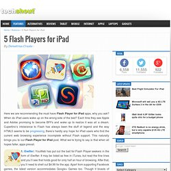 5 Flash Players for iPad